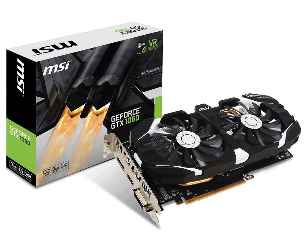 Card màn hình MSI GeForce GTX 1060 3GB GDDR5 OCV2 còn bh 1/2021 chính hãng
