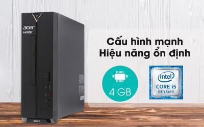 Acer Aspire XC-885 i5-8400/4GB/1TB/Bàn phím&Chuột/Win10