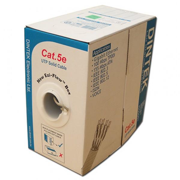 Cáp mạng Dintek CAT.5E UTP, 4 pair, 24AWG, 305m/thùng (1101-03003) chính hãng