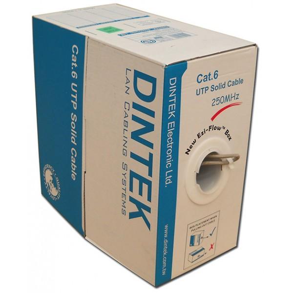 Cáp mạng Dintek CAT.6 UTP, 4 pair, 23AWG, 100m/box (1101-04005CH)