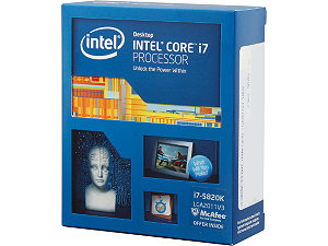 Intel Core i7-5820K Processor  (15M Cache, up to 3.30 GHz)