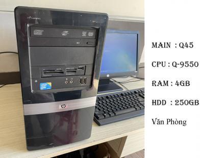 máy bộ HP cấu hình khủng main q45 chíp Q-9550 ram 4gb hdd 250gb quá nhanh cho văn phòng