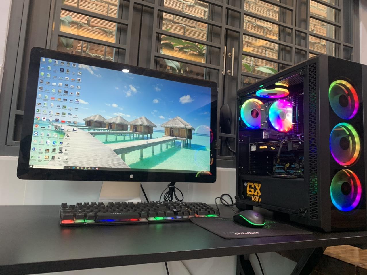 Thùng máy Game main Asus z77 khủng long i7-3770 ram 8gb ssd 120gb vga rx580 4gb chiến game chính hãng