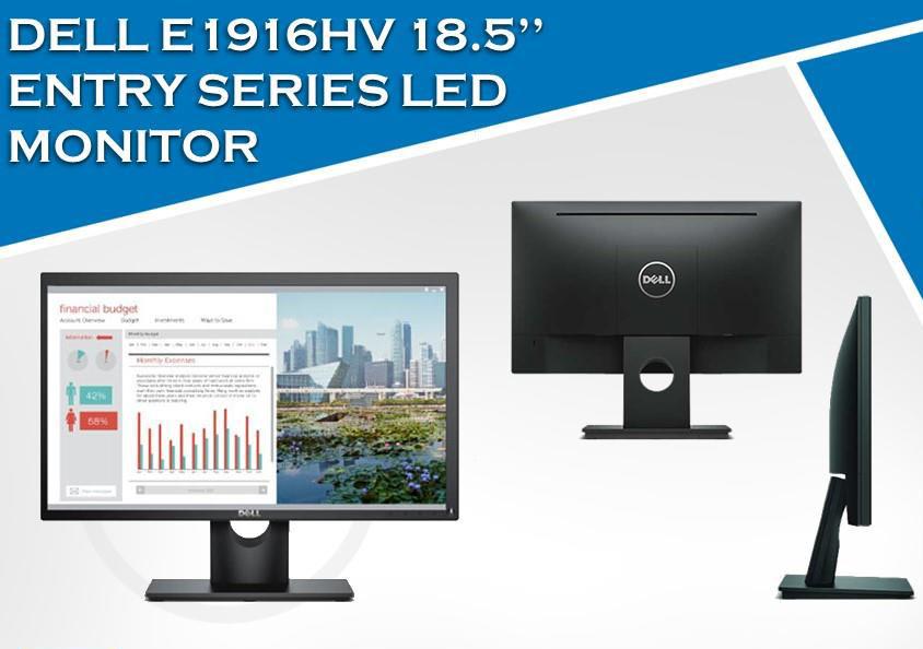 Màn hình Dell E1916HV (18.5 inch/HD/Wide LED/250cd/m²/VGA/60Hz/5ms)