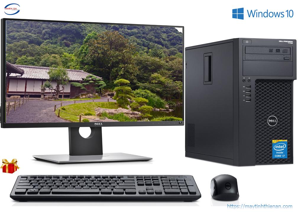 Máy Bộ Dell T1700: Core i7-4770/4GB/SSD 120GB/20inch