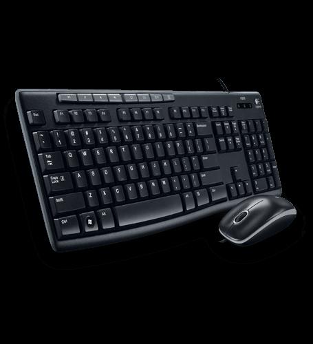 Bộ bàn phím chuột có dây Logitech Media Combo MK200