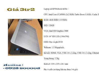 HP PROBOOK 4430S – CORE I5  4GB SSD 128GB  (DOANH NHÂN/SIÊU MẠNH)