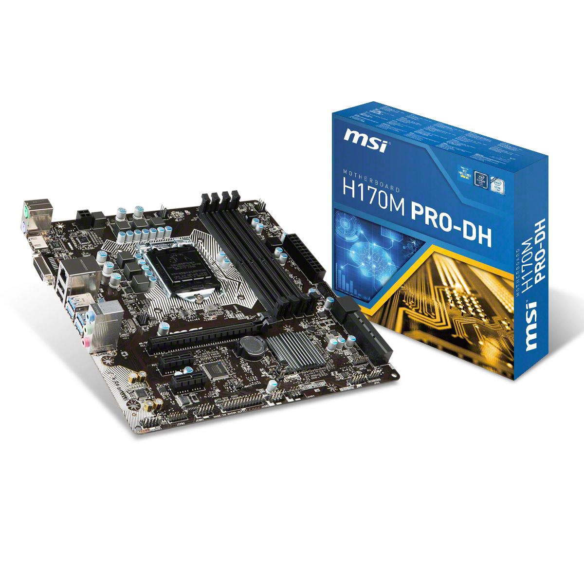 Mainboard MSI H170M PRO-DH Socket 1151 (H170M PRO-DH)